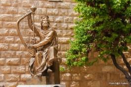 Статуя царя Давида в Иерусалиме.