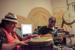Репетиция нашей группы у меня дома в Мицпе-Рамон.