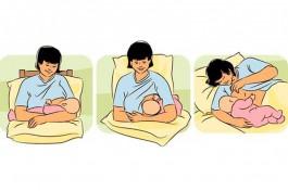 Позы для кормления грудью ребенка.
