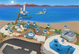 Карта подводной обсерватории в Эйлате.