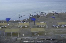 Пляж с высоты, где пару десятков лет назад был уровень моря.