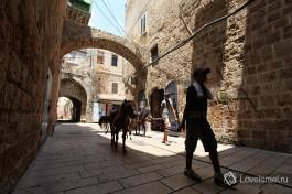 Арабский ребенок с ослом... животные до сих пор часто используются для мелких перевозок в этой части города )