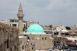 Вид крыш старого города Акко, Израиль.