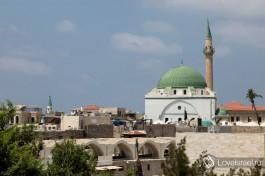 Вид на мечеть, старый Акко, Израиль.