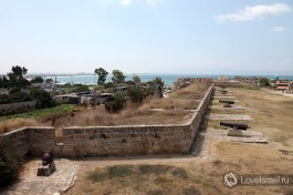 Крепостные стены старого Акко, вид сверху.