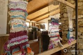 Маленький цех по производству шерсти альпак.