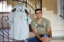 Майор Хамзи Ганем у себя дома в друзской деревне Мрар, около Кармиэля.