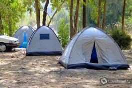 Ставить палатки обязательно в тень! солнце в Израиле встает в 6 утра