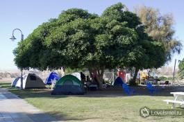 В Израиле много кемпингов, где за небольшую плату у вас будут столы, стулья, туалеты, душ и даже холодильник