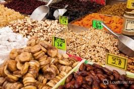 Израиль славится разнообразием сухофруктов
