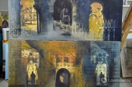 В иерусалимской студии художника Баратынского.