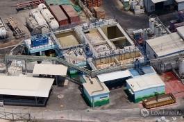 Биореактор GES на территории продуктового завода Uniliver. Спроектированнаяинженерами GES станция очищает 350 кубометров сточных вод в день.