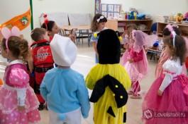 Веселый праздник Пурим - даже воспитательница была в костюме!