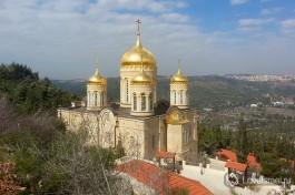 Горненский монастырь сверху, удивительный пасторальный вид на склоны иерусалимских гор.