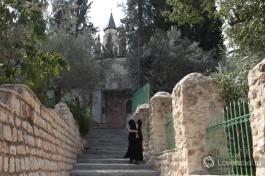 Одна из живописных лестниц в монастыре, который находится на склоне горы.