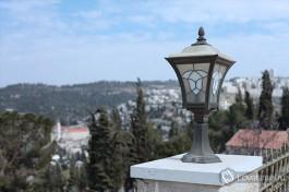 Вид на склоны иерусалимских гор. Горненский монастырь.