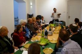 Пасхальный седер в русскоязычной общине Шират ха-ям (Хайфа, Израиль).