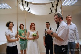 Церемония хупы на реформистском семинаре, Израиль.