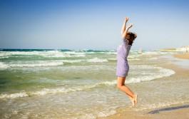 Побывала в Израиле Дарья Думнова. Где-то на Средиземном Море.