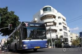 Автобус компании Дан, Тель-Авив.