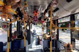 И такой автобус курсирует у нас, но это уже местная инициатива одного из водителей. Такой позитив поднимает настроение :)