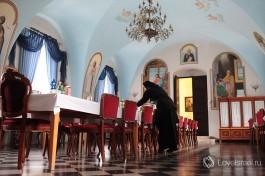 Трапезная в Русской Духовной Миссии в Иерусалиме.
