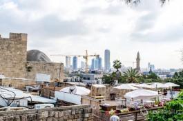 С Яффского холма открывается шикарный вид на Тель-Авив и окрестности. Яфaо Израиль.