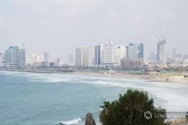 Вид на пляжи Тель-Авива. Яффо Израиль.