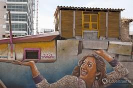 Настенный рисунок Рами на улице Яркон, Тель-Авив.