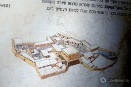Карта древнего поселения.