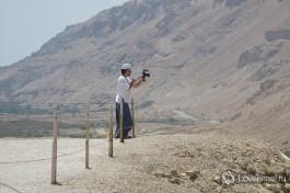 Наш видеокреэйтор Давид снимает ролик о Мертвом море :)