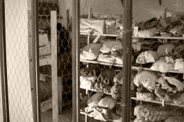 Склад личных вещей заключенных евреев.