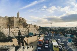 Иерусалим. Встреча Старого и Нового Города у стен Башни Давида.