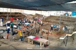 Одни из самых крупных раскопок стоянки под открытым небом периода среднего палеолита, Эйн-Кашиш, Израиль.