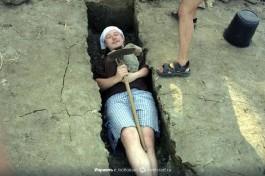 Дурачимся. 98-й год. Студент археологии в Израиле.