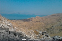 Вид на озеро Кинерет.