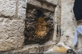5-я остановка. Камень, о который оперся Иисус, чтобы не упасть.